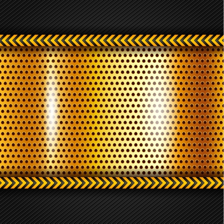 hazard tape: Golden metallic surface