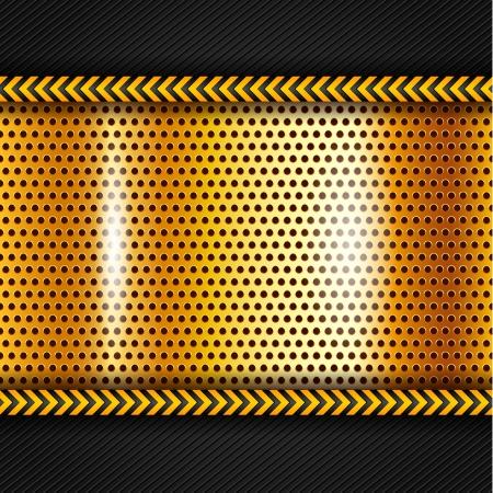 caution tape: Golden metallic surface