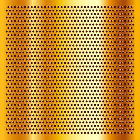Golden perforated sheet Stock Vector - 17852369