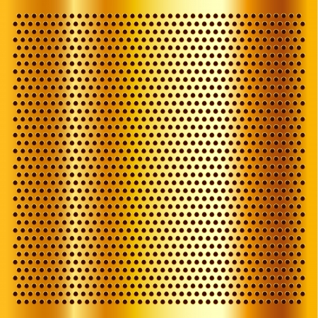 Golden perforated sheet Stock Vector - 17852369