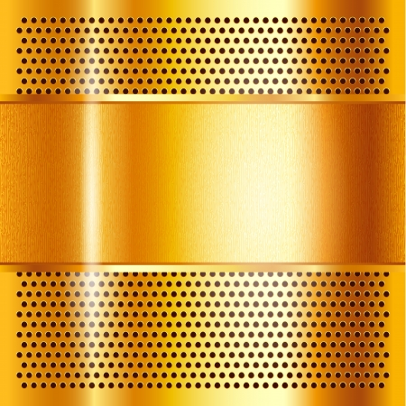 mechanical radiator: Metal sheet gold