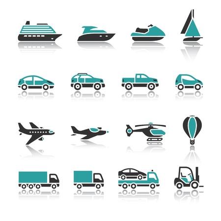 Set of transport icons - One 일러스트