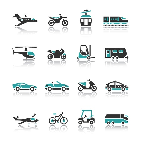 privat: Set of transport icons - Two Illustration