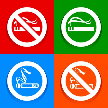 Stickers multicolored  No smoking area labels Stock Vector - 17852365