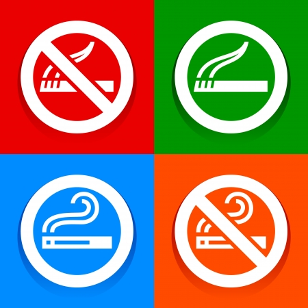 Stickers multicolored - No smoking area symbol Vector