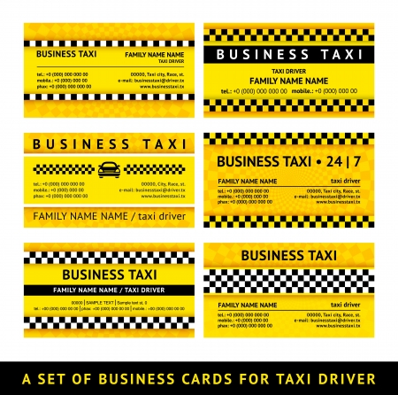Business card taxi - sixth set Vector