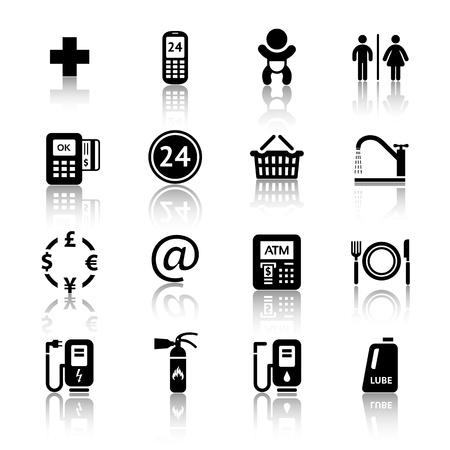 Gas station icons Illustration