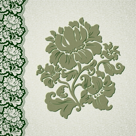 flower and border vintage lace Vector