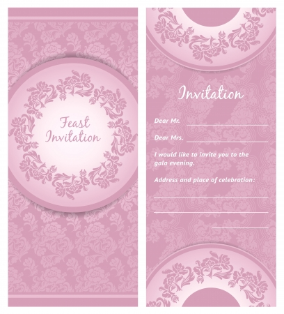 Invitation background, wedding greeting card Vector