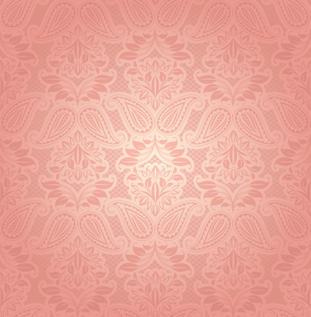 Lace pink, floral background Vector