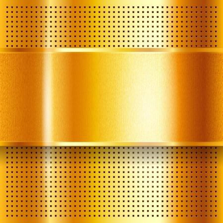 perforated sheet: Metallic perforated golden sheet