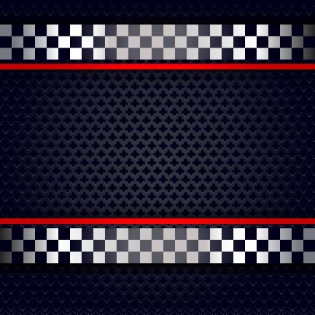 Metallic geperforeerde plaat achtergrond voor de race Stock Illustratie