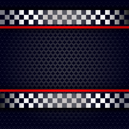 Metallic perforated sheet background for race Ilustração