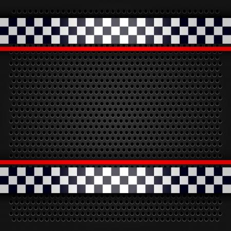 bandera carrera: Hoja perforada para la carrera met�lico