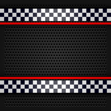 car race: Sheet metallic perforated for race