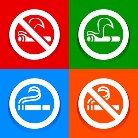smoking place: No smoking and Smoking area - Multicolored stickers