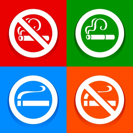 abstain: No smoking area - Stickers Illustration