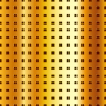 mechanical radiator: Perforated scratched mettalic gold sheet Illustration