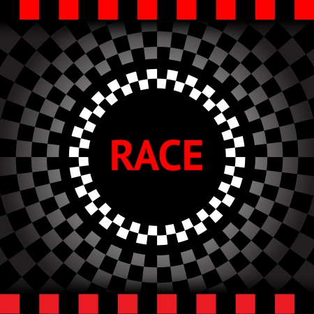speedway: Race-square-black-background Illustration
