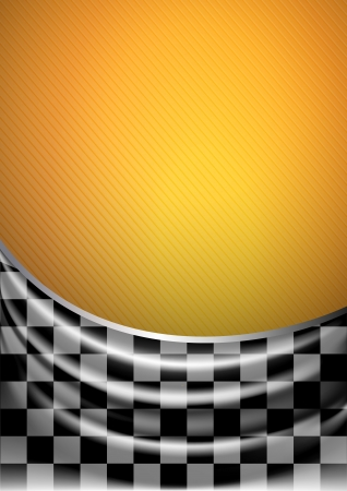 corduroy: Silk tissue in checkered on a yellow background, vector illustration eps10 Illustration