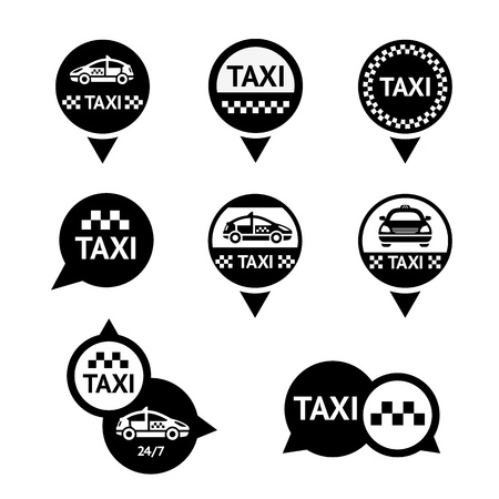 Taxi - set emblems Vector