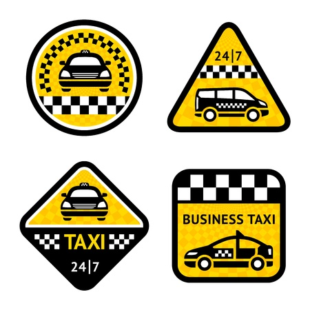 yellow taxi: Taxi - set four stickers