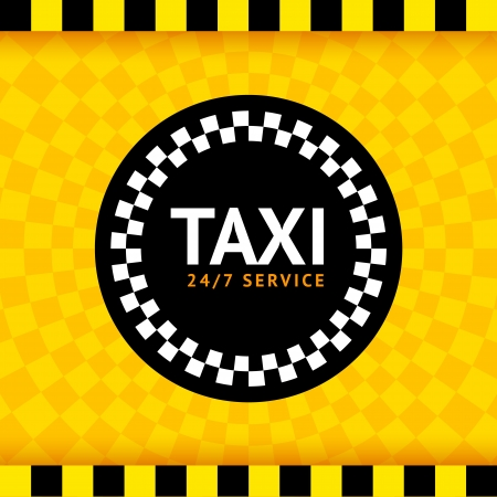 new york taxi: Taxi round symbol