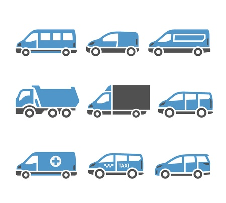 family van: Transport Icons - A set of sixth
