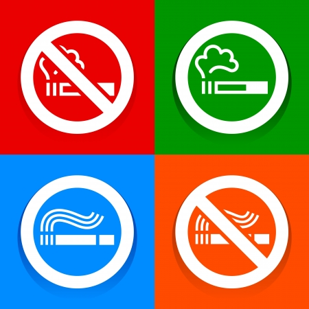 Stickers multicolored - No smoking symbol Vector
