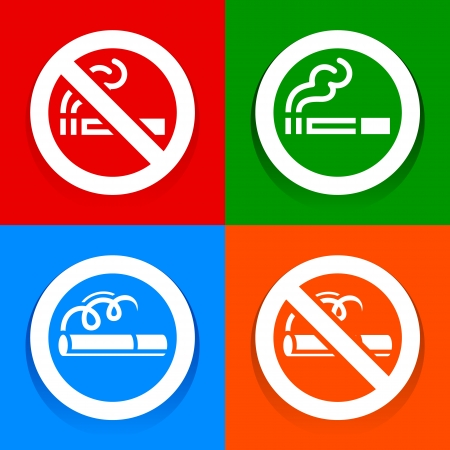 Stickers multicolored - No smoking area sign Vector