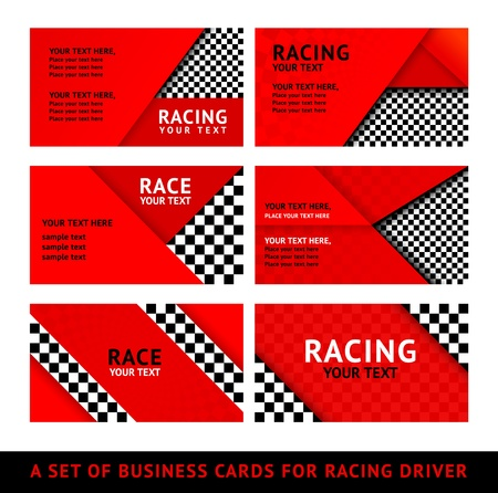 racing background: Business card driver race - second set