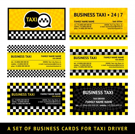 new york taxi: Business card taxi - eighth set