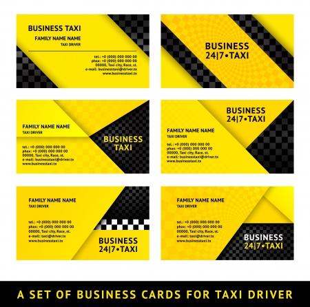 Business card taxi - ninth set 일러스트