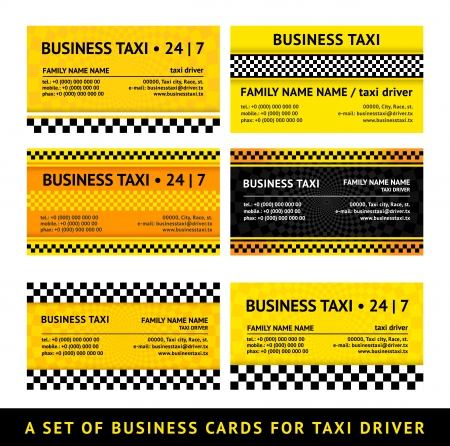 Business card taxi - seventh set Vector