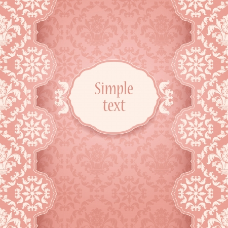 Frame ornate vintage, square Vector