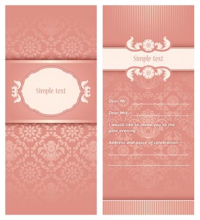 wedding backdrop: Invitation template