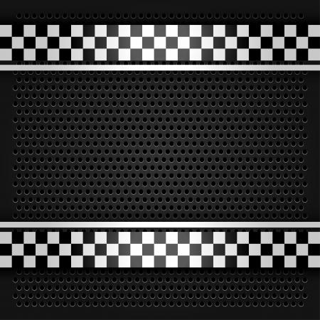 orifice pattern: Metallic perforated sheet gray Illustration