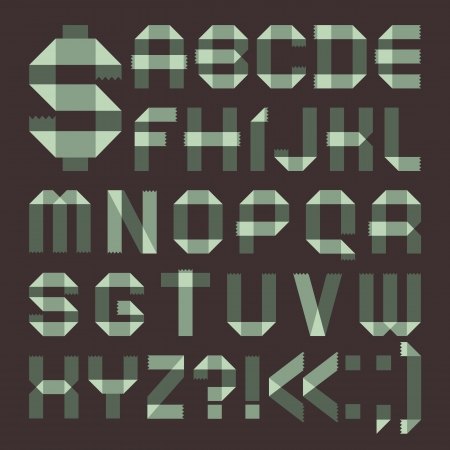 roman alphabet: Font from spindrift scotch tape -  Roman alphabet