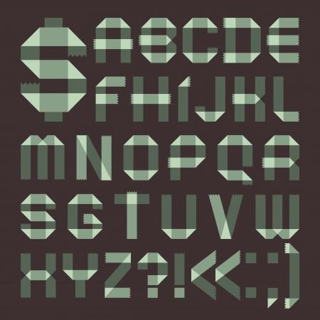 spindrift: Font from spindrift scotch tape -  Roman alphabet