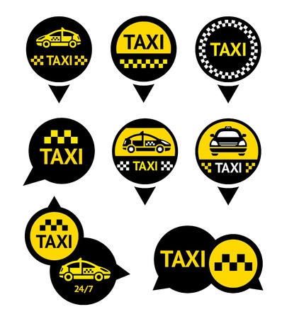 Taxi - Emblems Stock Vector - 18598213
