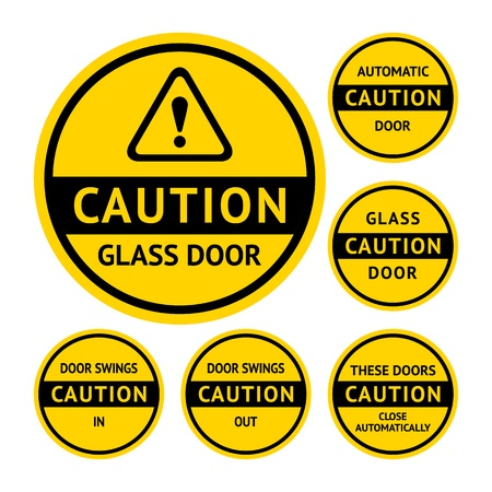 Stickers and Labels on the door Vector