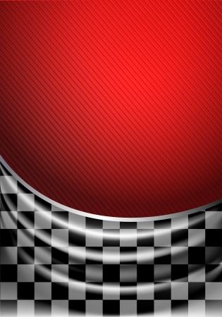 빨간색 배경에 체크 무늬의 실크 조직