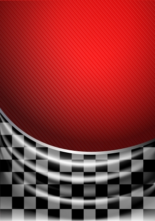 Silk tissue in checkered on a red background Illustration