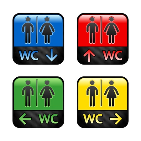 unisex: Restroom - colored stickers
