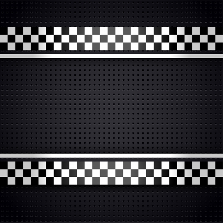 checkered flag: Structured metallic perforated for race sheet gray template