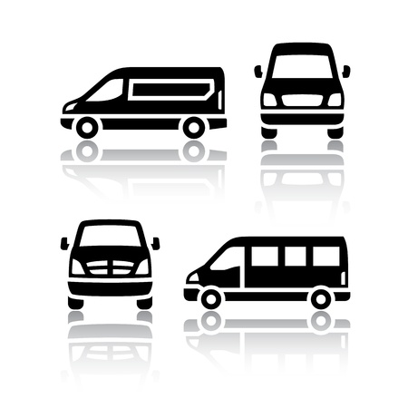 Set of transport icons - Cargo van Stock Vector - 18548716