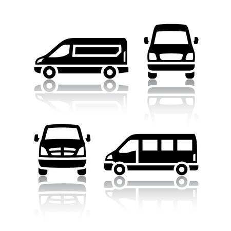 Set of transport icons - Cargo van