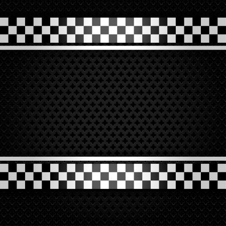 Metallic perforated gray sheet Vector