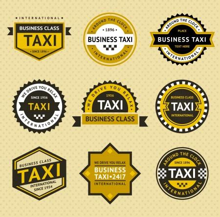 taxi: Insignia Taxi - estilo de la vendimia