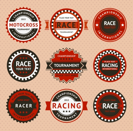 motor vehicle: Racing insignia - vintage style